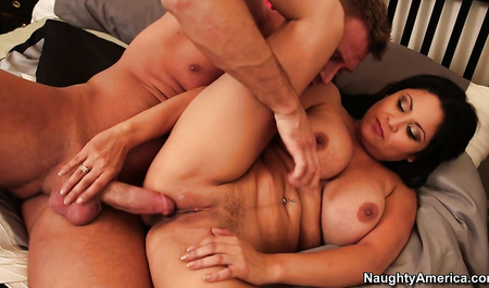 Full brunette does Blowjob neighbor on the occasion of parting with a friend