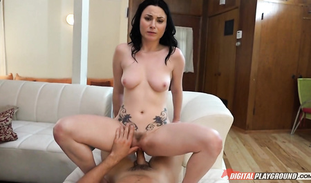 Slim wife sex with husband
