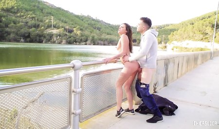 Muscovite having sex with Spanish Muchacho on the bridge