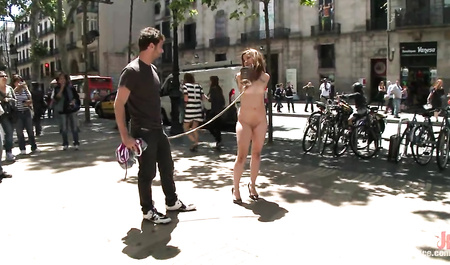 Guy Fucks gorgeous chick at the eyes of passers-by