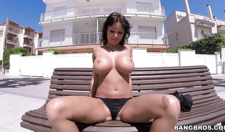 Beautiful brunette boss gets fucked anywhere at a luxury resort