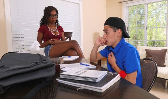 The Negro in the day studying and having sex with a Spanish boy