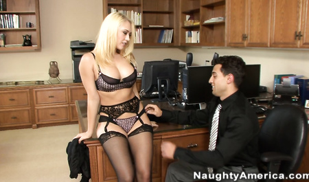 Young, Italian chef Fucks a lovely blonde in black stockings