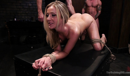 Her husband and a friend tortured the wife and fuck her in all holes