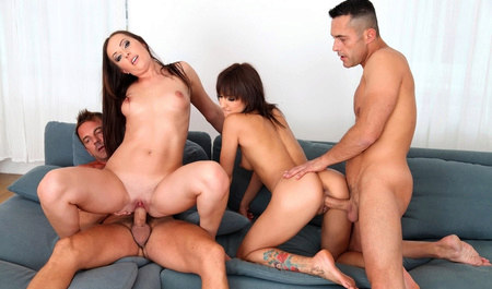 The boys had a wild Orgy with two insatiable students