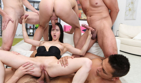 Crystal Greenville SC fucked by men in wild Orgy