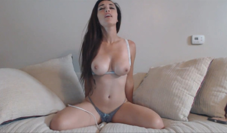 Busty girl Masturbates in the online broadcast