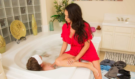 Dark-haired wench having a guy with a subsequent hard sex
