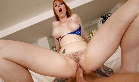 Boobs redhead chick from Denver fuck with a young guy