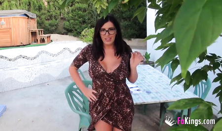 Mature lady fucked by neighbor outdoors