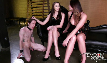 Groupies BDSM dominate the man from the bag as you want