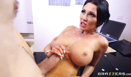Handsome Danny violently bangs a cutie Patty Michova in the office