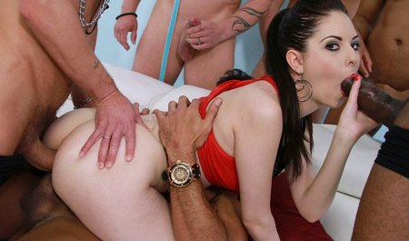 Gangbang with a Geng-Bang and double penetration before marriage
