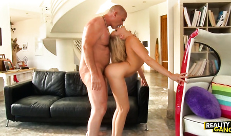 Slender blonde Mia Malkova does wild home sex with a Mature man