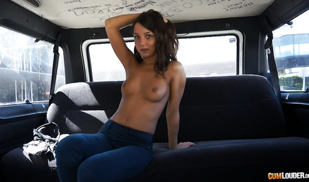 Young driver taxi hard Fucks slim girl in the car