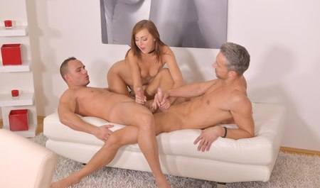 Wife cheated on boyfriend with friend for a Threesome Threesome