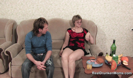 Drunk aunt Tanya Fucks with a young guy