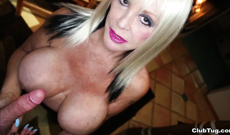 Mature aunt jerking cock young bugger