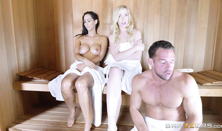 Tough guy johnny Fucks friend sleeping bride in a sauna