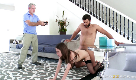 Slave Fucks young wife boss in front of her husband